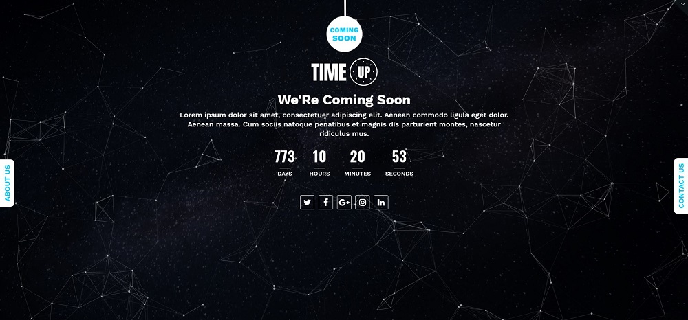 Time Up - Coming Soon Specialty Page