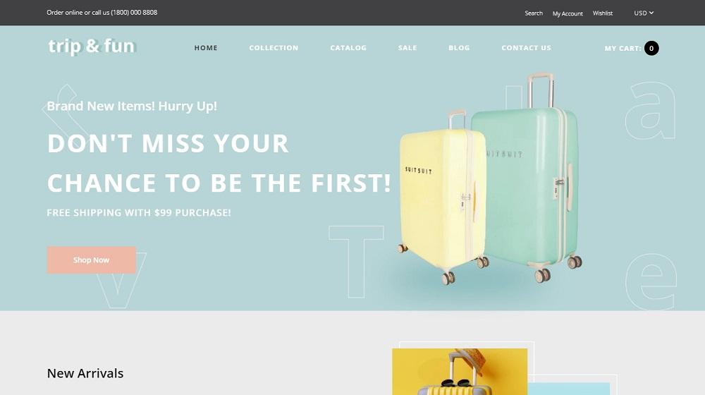Trip&Fun - Travel Agency Shopify Theme