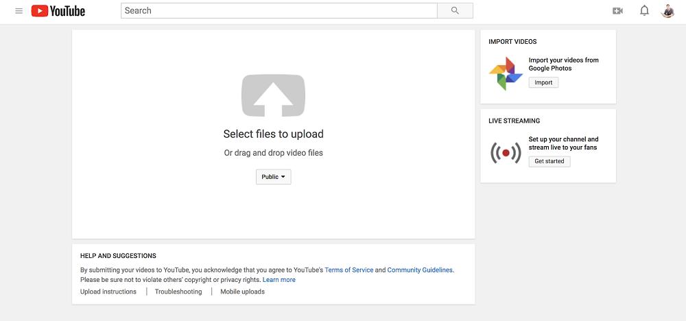 youtube select file