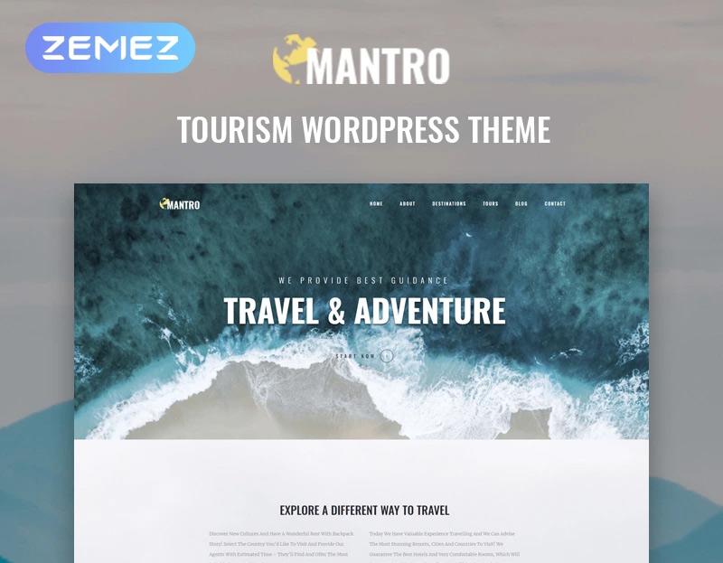 Mantro - Tourism One Page Modern Elementor WordPress Theme