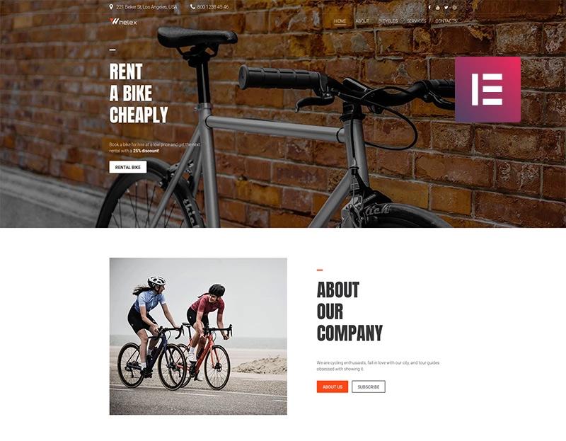 Whelix - Motorcycle Rental Multipurpose Modern Element WordPress Theme
