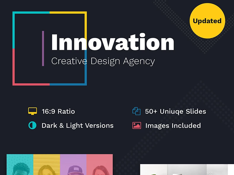Innovation Creative PPT For Design Agency PowerPoint Template