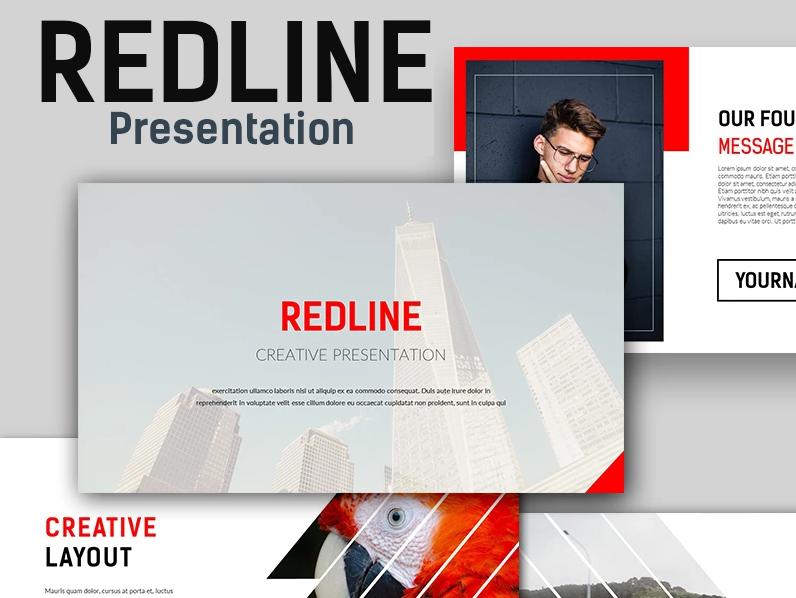 Redline Creative PowerPoint Template