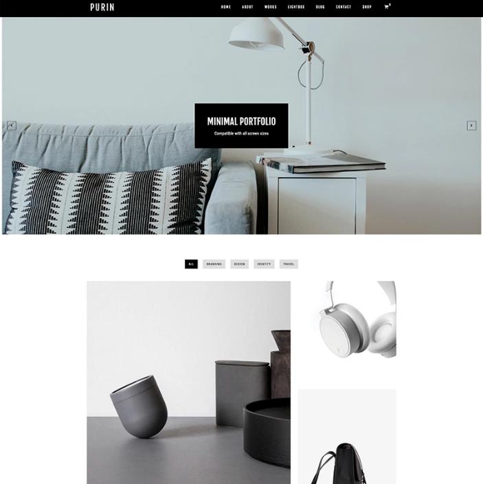 Purin - Minimal Portfolio Plus WooCommerce WP Theme