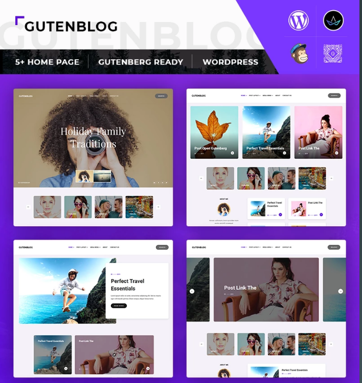 GutenX - WP Theme for Personal Blog