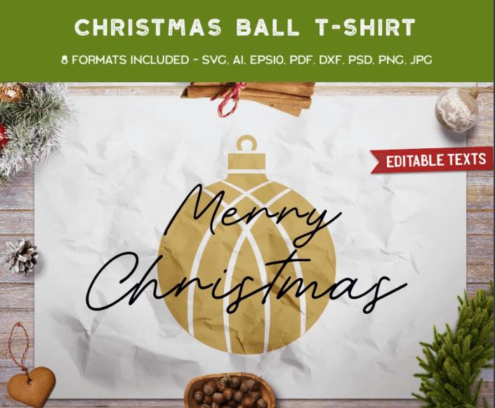 Merry Christmas Ball T-shirt