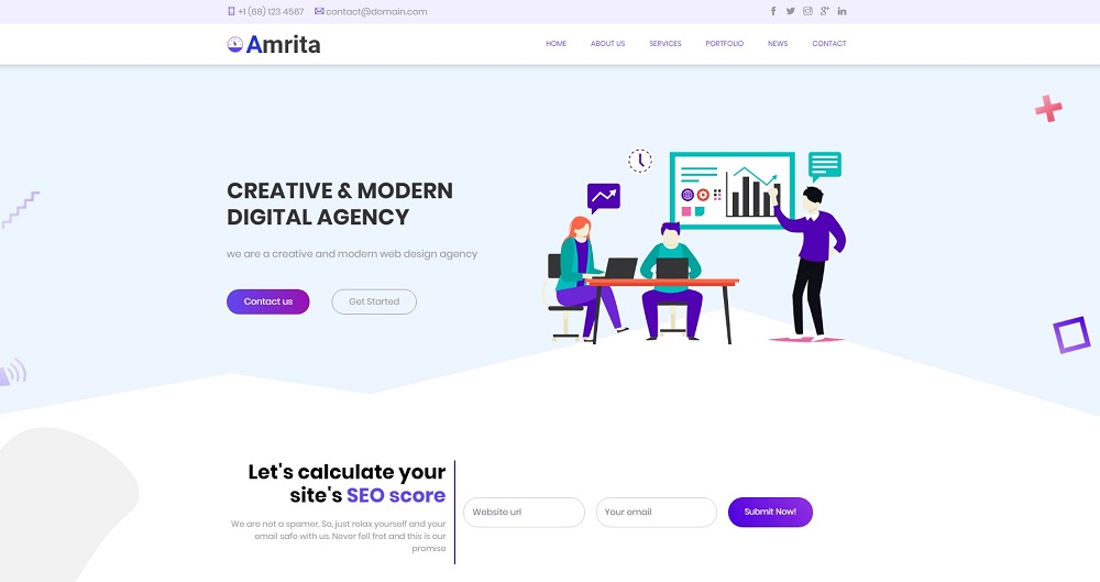 Amrita Multipurpose Business WordPress Theme