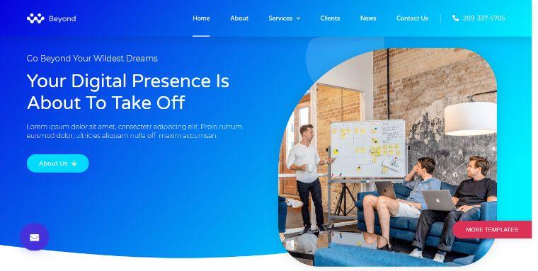 Beyond - Digital Agency Elementor Template