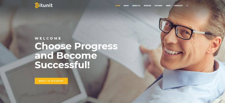 Bitunit Lite - Bitcoin Free WordPress Theme