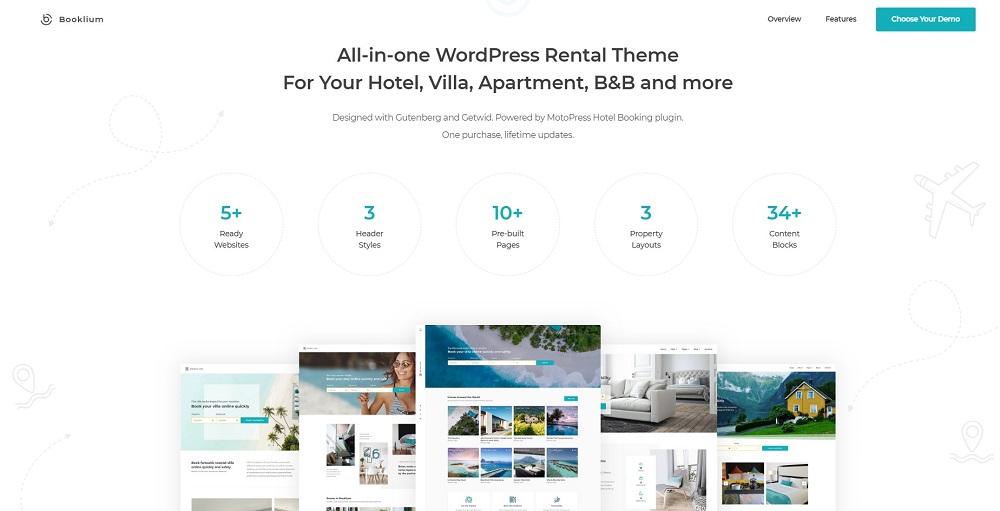 WordPress Rental Theme - Bookleum WordPress Theme
