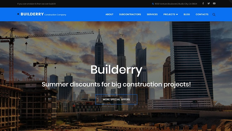 Builderry - Construction Company WordPress Theme.