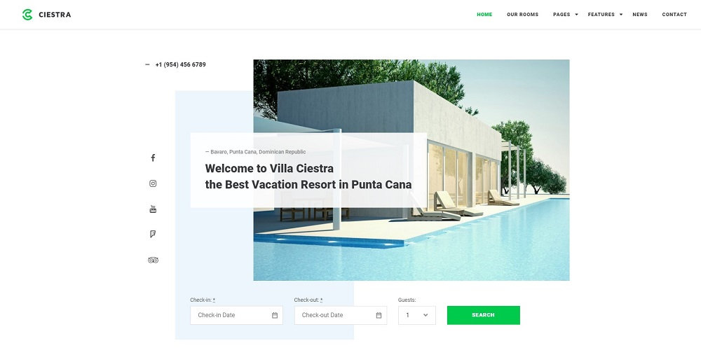 Ciesta - Resort WordPress Theme
