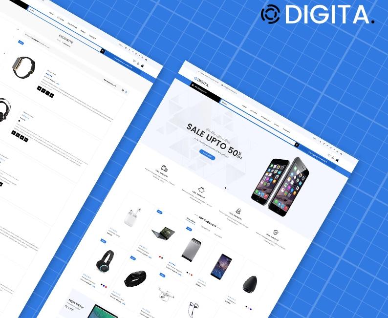 Digita — Electronics Store eCommerce Clear Shopify Theme