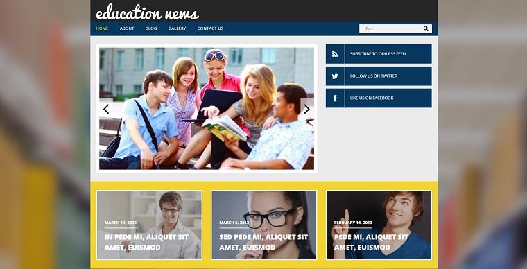 Education Responsive WordPress Theme