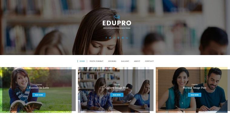 EduPro - Education Blog WordPress Theme