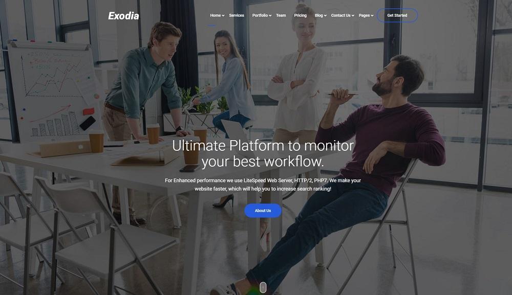 Exodia - Web Studio & Creative Agency Website Template