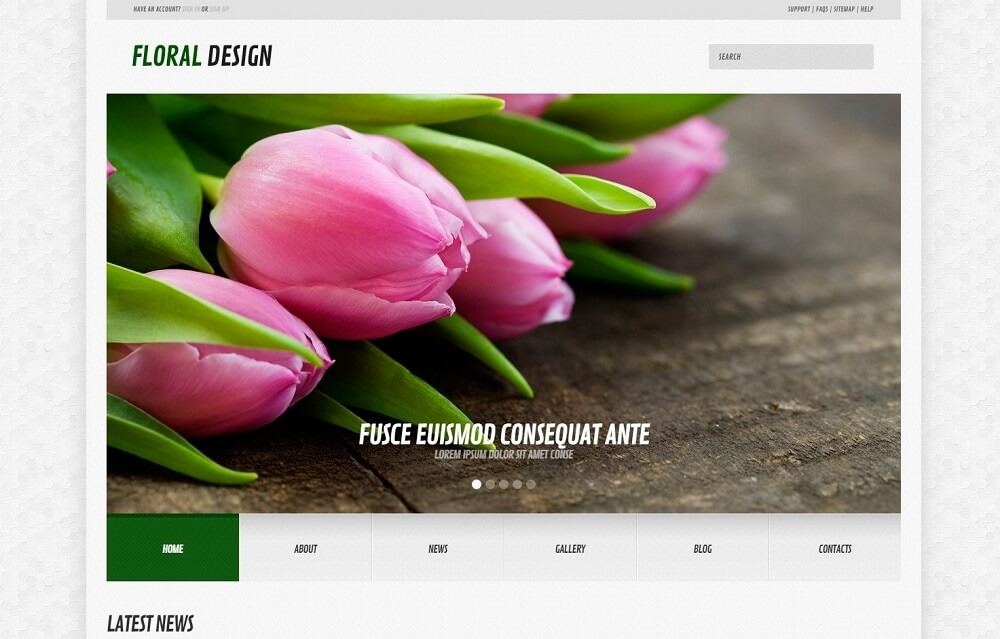 Flowers Responsive WordPress Theme