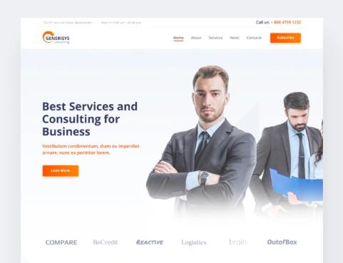 Generisys- Business Consulting Multipurpose ClassicElementorWordPress Theme