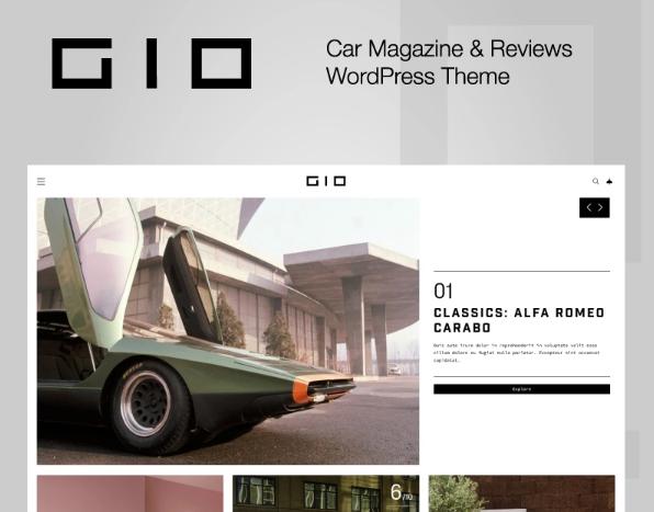 GIO- Car Magazine WordPress Theme