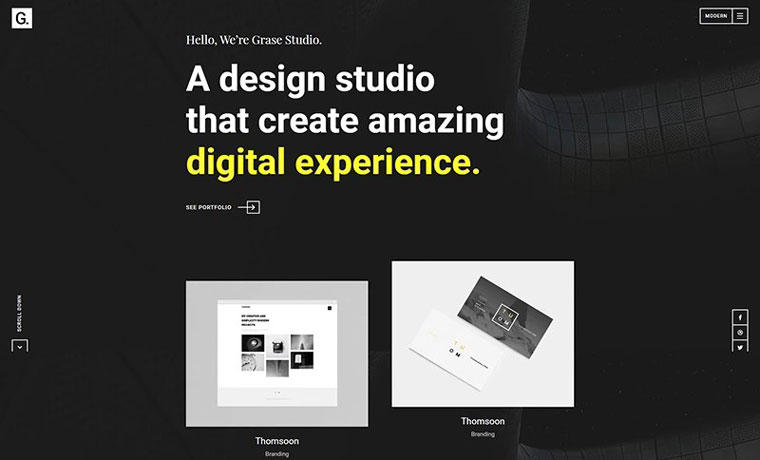 Grase - Creative Portfolio WordPress Theme.