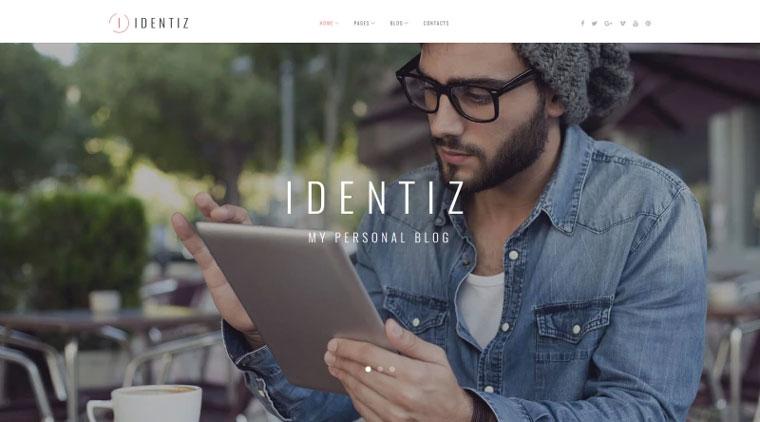 Identiz - Personal Blog WordPress Theme.