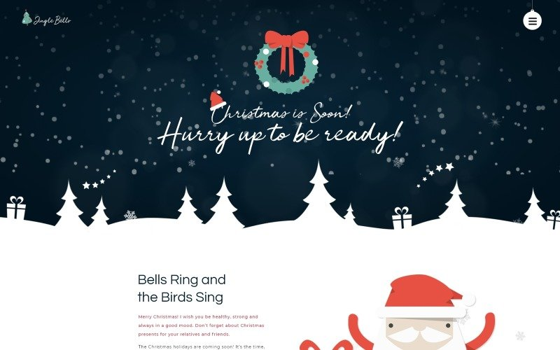 Jingle Bells - Event Making Holiday Party Website WordPress Theme