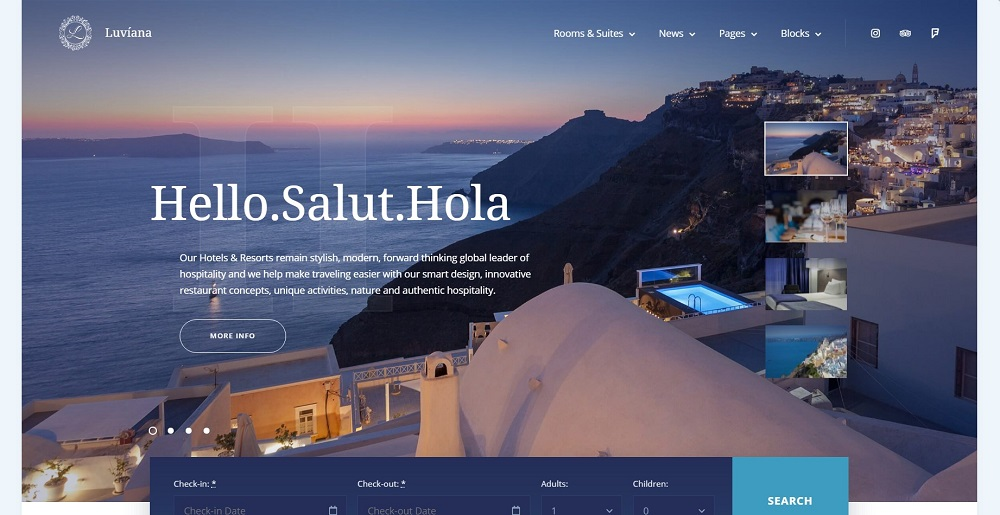 Luvianna Hotel WordPress Theme