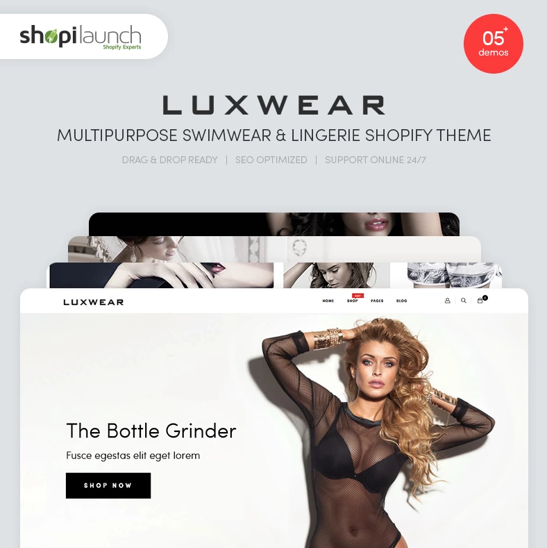 LUXWEAR — Multipurpose Swimwear & Lingerie Shopify Theme