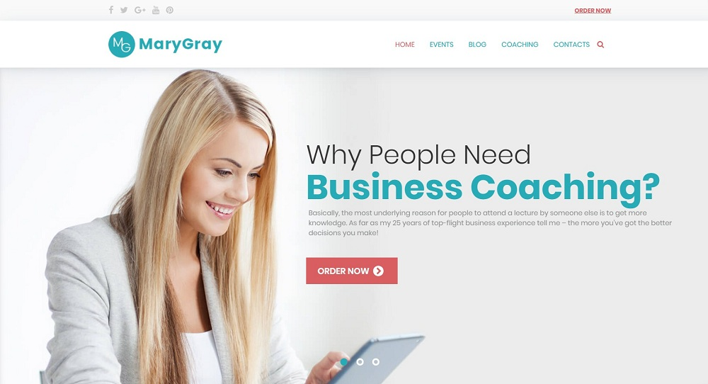Personal Business Coaching WordPress Theme