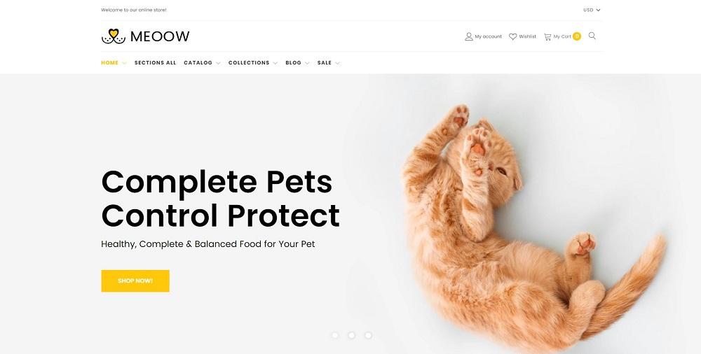 Meoow - Cute Pet Shop Shopify Theme