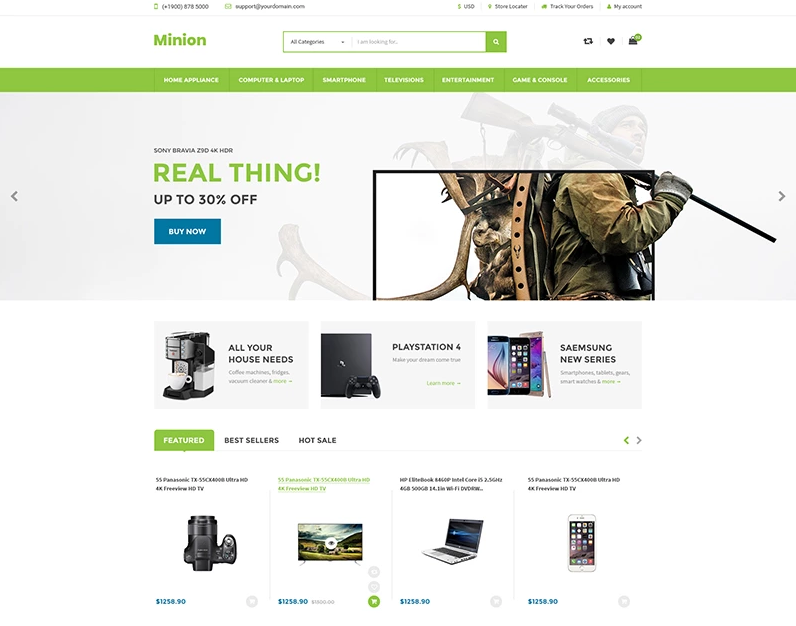 Minion — Multi-store Responsive Shopify Theme