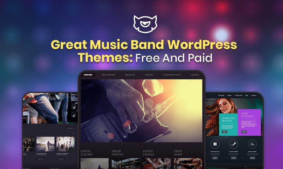 Music band wordpress themes.