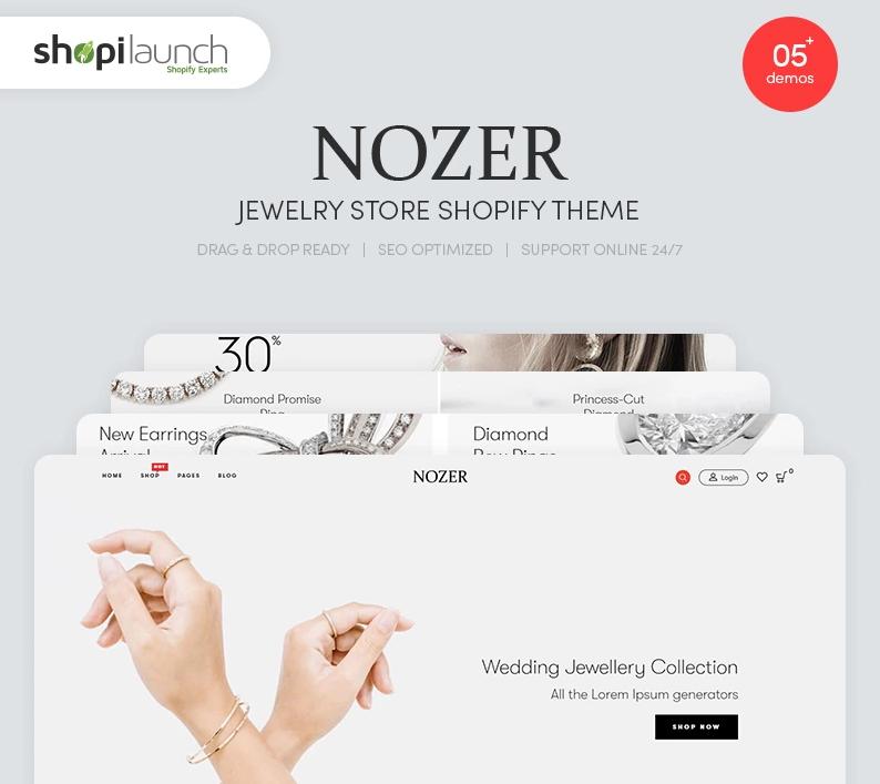 Nozer — Jewelry Store Shopify Theme