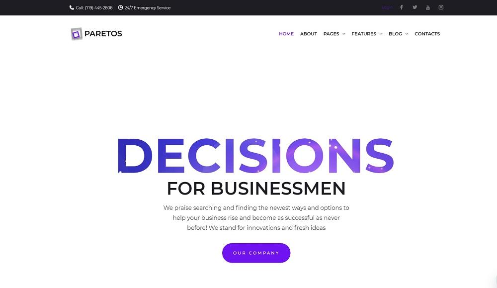 Paretos - Business Services Elementor WordPress Theme