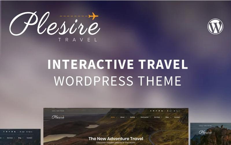 Plesire - Interactive Travel WordPress Theme