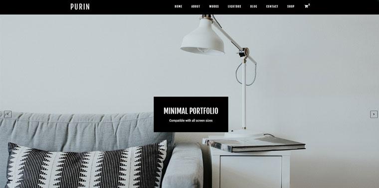 Purin - Minimal Portfolio & WooCommerce WordPress Theme.