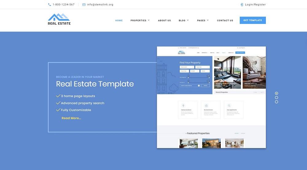Real Estate Multipurpose HTML5 Website Template