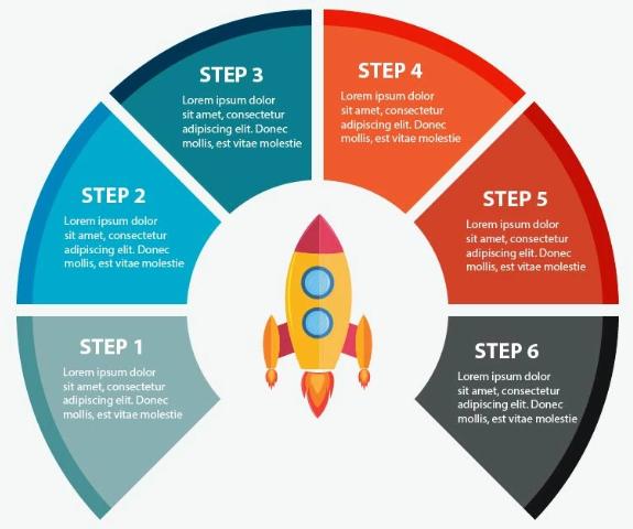 Rocket Infographic Elements