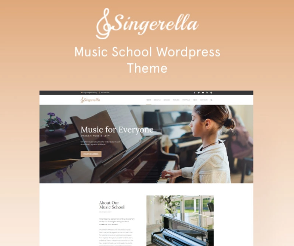Singerella- Music School WordPress Theme