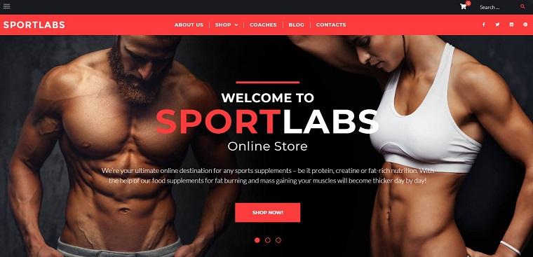 SportLabs - Sport Nutrition WooCommerce Theme.