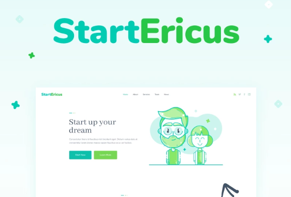 StartEricus- Clean and Minimalistic Startup Landing Page WordPress Theme