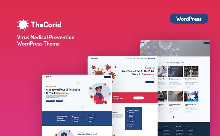 Thecorid - Corona Virus(Covid-19) Medical Prevention WordPress Theme