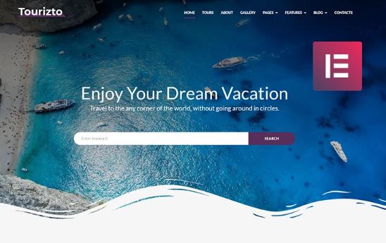 Tourizto- Travel CompanyElementorWordPress Theme