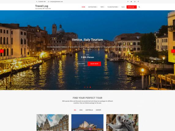 travel-log-free-wp-theme