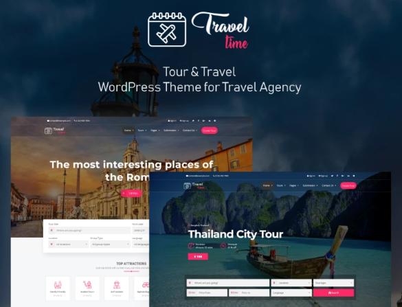TravelTime- Complete Tour & Travel Agency WordPress Theme