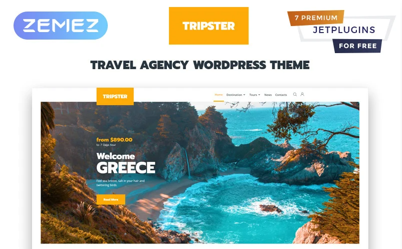 Tripster - Travel Agency Modern Elementor WordPress Theme