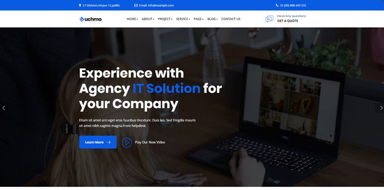 Tuchmo - Technology IT Solutions Services WordPress Theme.