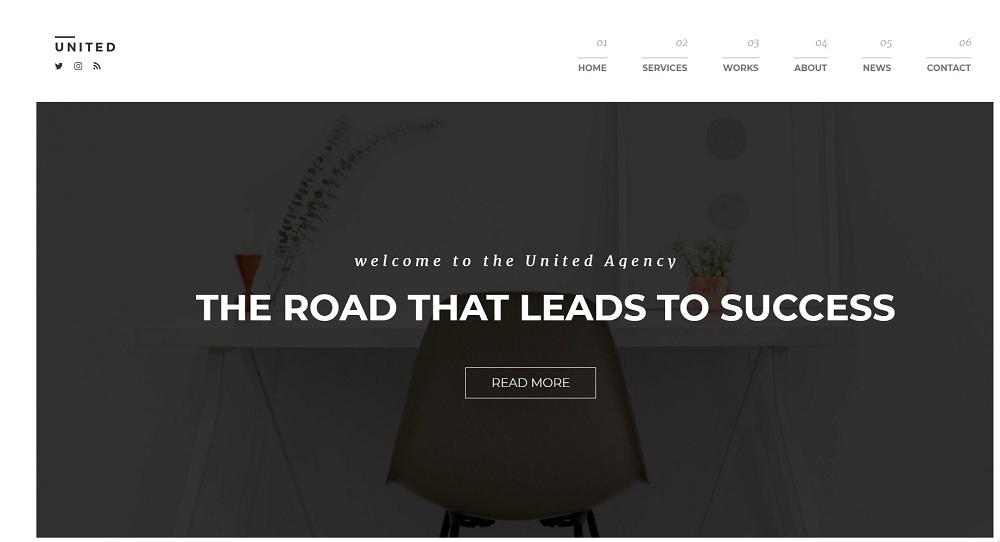 United - Minimal Portfolio WordPress Theme