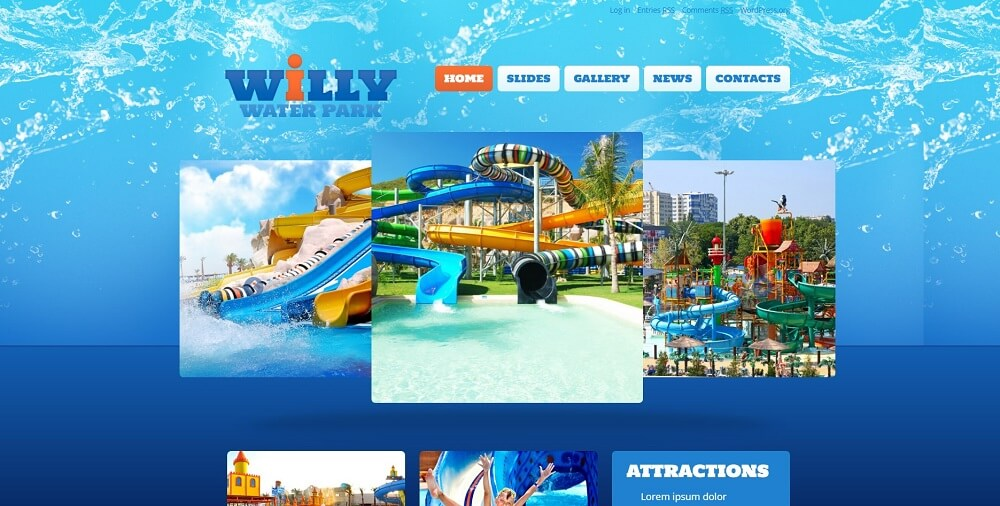 Amusement Park Responsive WordPress Theme