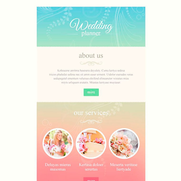 Wedding Planner Responsive Newsletter Template by WT